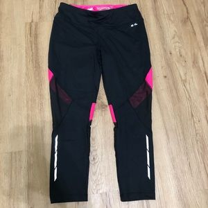 Work out pants black and pink